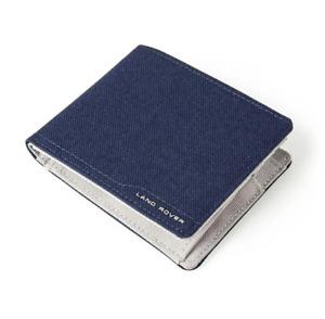 GENUINE Land Rover Nylon Wallet, Navy/Grey