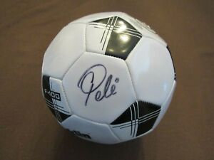 PELE BRAZIL NEW YORK COSMOS SOCCER STAR SIGNED AUTO FRANKLIN F100 BALL PINPOINT