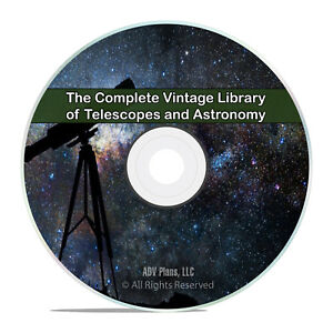 231 Classic Books on Telescopes & Astronomy, Stars Astronomer PDF DVD H95