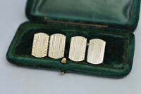 Vintage Sterling Silver cufflinks with an Art Deco style #B990