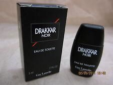 DRAKKAR NOIR by GUY LAROCHE 0.17 FL oz / 5 ML EDT Mini New In Box