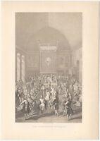"Handsome Victorian Lithograph of ""Coronation Banquet"" - Firmin-Didot, Paris"