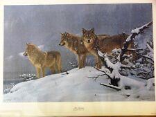 "John Banovich ""The Return"" Signed & Numbered Wolves Scene Giclee Print"