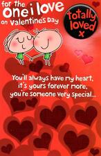 One I Love Valentine's Day Greeting Card With Badge Totally Loved
