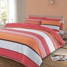 Lenzuola e biancheria da letto arancione geometriche