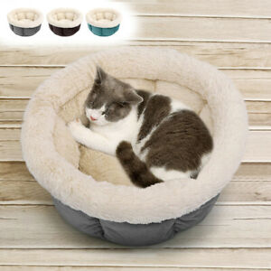 Winter Warm Pet Bed for Cats Dogs Fleece Nesting Bed Mat House Cushion Kennel