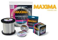 Maxima Fluorocarbon 25m Spools Leader Material Clear Fishing Tippet Line
