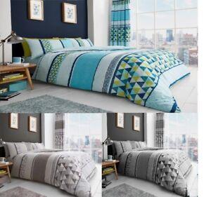 Luxury Madison Stripe Duvet Covers Quilt Cover Reversible Bedding Set All Sizes