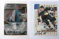 1997-98 BaP Signature Series #212 Morozov Alexei  autograph  penguins