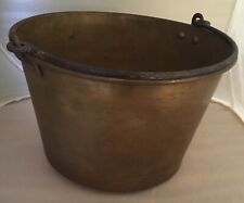 Vintage Antique Copper Bucket Forged handle American Brass Kettle Manufacturers