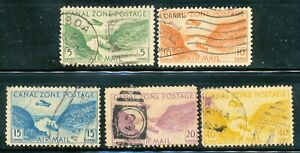 CANAL ZONE-1931-39 SC # C7,9-11,13,-USED