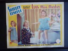 1934 LITTLE MISS MARKER - 1936 RE-RELEASE LOBBY CARD- SHIRLEY TEMPLE HORSERACING