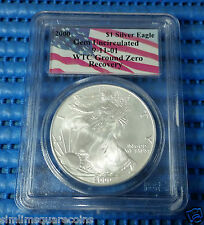 2000 US $1 Silver Eagle Coin Gem Uncirculated 9-11-01 WTC Ground Zero Recovery