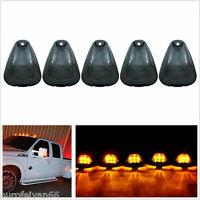 5 X 12-24V Black Smoke Lens Amber LED Light Car Truck Top Cab Roof Marker Lamps