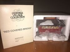 Dept 56 Heritage Village Collection, Red Covered Bridge, #5987-0