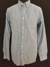 """New St George By Duffer Blue Stripe Shirt Size S Chest 38"""""""