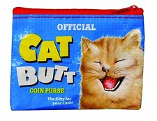 Cat Butt Coin Purse Blue Q Small Wallet Bag Purse Card Holder Funny Gifts