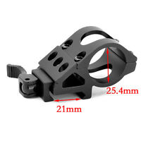 """1"""" Offset Picatinny Weaver Rail Mount for Flashlight with Quick Release Set"""