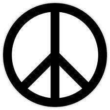 Peace symbol white black simbolo di pace etichetta sticker 11cm x 11cm