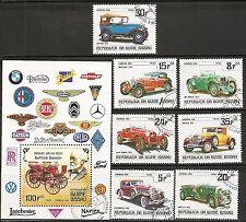 Guinea-Bissau SC # 546-552 Gottieb Daimler, Vintage Cars. Precancel. MNH