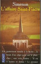 SIMENON L'AFFAIRE SAINT FIACRE