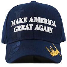 """Trump Hat Cap """"Make America Great Again"""" 3D -Navy"""