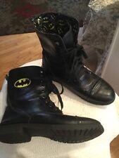 DC Comics women's BATMAN COMBAT BOOTS LOGO Allover lace up Fold Over SHOES sz.6