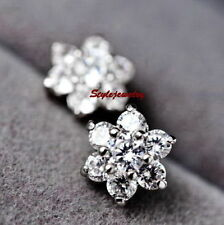 Butterfly Alloy White Gold Filled Fashion Earrings