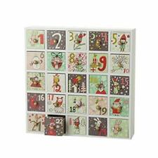 Advent Calendar Box with Treat Drawers Reusable Wooden Christmas Countdown