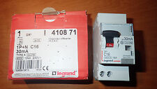 Legrand 410871 - Interrupteur Différentiel 16A 30Ma - 1P+N - Courbe C - HPI