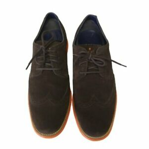 COLE HAAN Brown suede Lunargrand wingtip oxford, Size 12