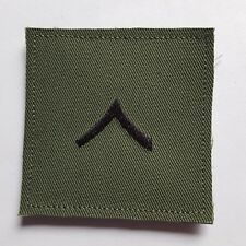 U.S. ARMY AUFNÄHER KLETT PATCH PRIVATE OR-2 RANK OLIV SUDUED