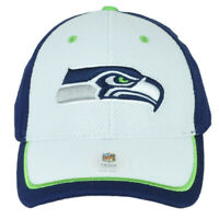 NFL Seattle Seahawks White Navy Hat Cap Adjustable Curved Bill One Size