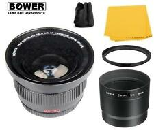 Accessory Kit (Fisheye Lens-Adapter-Fiber Cloth) for Canon PowerShot G12 G11 G10