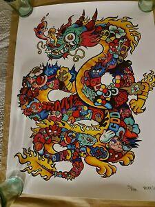 vexx art print Dragon Doodle