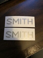 2 Smith Optics Silver Sticker Decal Approx 3""