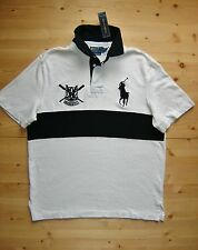 Polo Ralph Lauren Custom Fit Big Pony Crest Rugby Jersey in Size Large in White