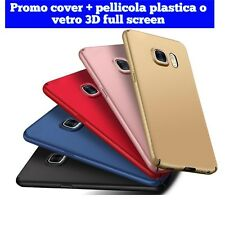 COVER PER SAMSUNG GALAXY S8 S8 + PLUS PLASTICA RIGIDA ULTRASLIM EFFETTO METAL