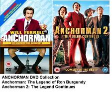 ANCHORMAN and ANCHOR MAN 2 DVD COLLECTION DOUBLE PACK Part 1 + 2 Brand New UK