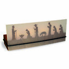 Tealight candlestick shadow play 4-person nativity scene DD SK4105 NEW