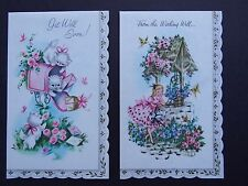Vintage Good Housekeeping Sweet and Dainty Get Well Parchment Cards