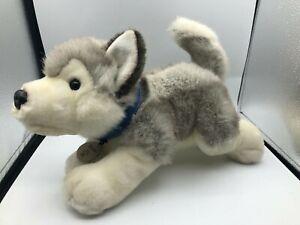 Official Keel Toys Storm The Husky Dog Grey Plush Kids Soft Stuffed Toy Animal