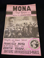 Partition Mona Quintin Verdu El Nabab Francisco Moya Music Sheet