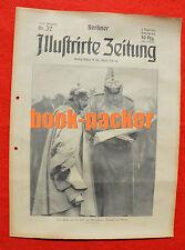 BERLINER ILLUSTRIRTE ZEITUNG 1914 Nr. 32: Eintritt Deutschlands Erster Weltkrieg