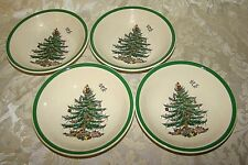 Set Of 4 Spode Christmas Tree Dessert/Cereal Bowls new in box