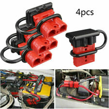 4pcs Car Battery Quick Connect Plug Auto Winch Connector 50A +Rubber boot caps