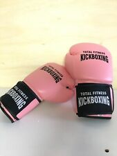 Total Fitness Pink Kickboxing Gloves Boxing Training 16oz Gloves