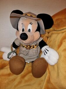 15 inch Official Disney World ~ Safari Minnie Mouse Plush Soft Toy ~ with tags
