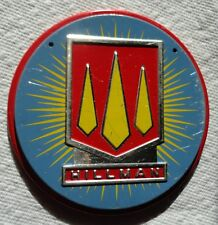 1950s Wheaties Cereal HILLMAN Steel Metal Auto Car Emblem Badge Logo Premium