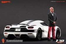 1/18 Christian von Koenigsegg VERY RARE!!! figures for 1:18 Autoart CMC